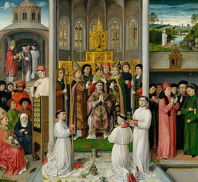 Painting - Scenes From The Life Of Saint Augustine Of Hippo by Master of Saint Augustine