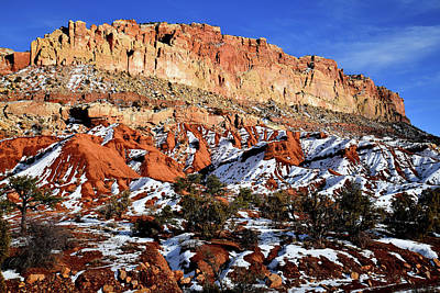 Photograph - Scenic Drive South In Capitol Reef National Park by Ray Mathis