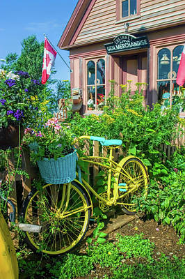 Nova Scotia Wall Art - Photograph - Scenic Garden And Antiques Store by David Smith