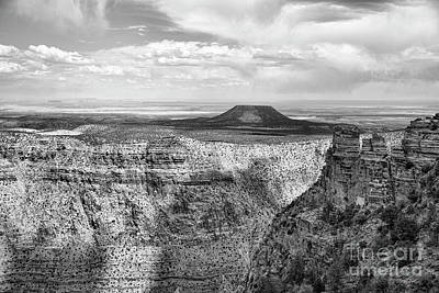 Photograph - Scenic Grand Canyon Black White  by Chuck Kuhn
