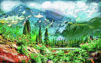 Scenic Mountain Lake Art Print