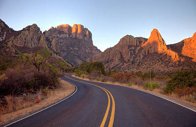 Photograph - Scenic Mountain Road In Texas Near Big by Denistangneyjr