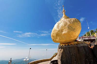Balance Photograph - Scenic View Of Golden Rock Kyaiktiyo by Fototrav