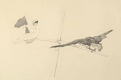 Relief - Schaukel, From The Series Radierte Skizzen by Max Klinger