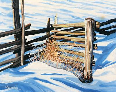 Painting - Schomberg Fence by Phil Chadwick