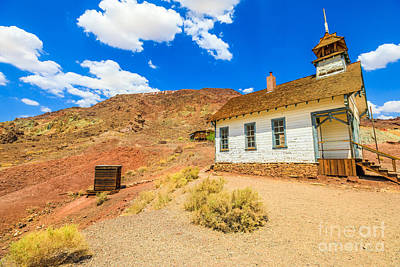 Photograph - School And Chapel In Calico by Benny Marty