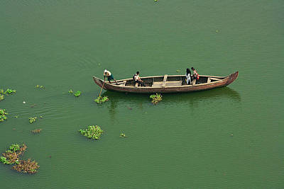 Kerala Photograph - School Boat by Gulfu Photography