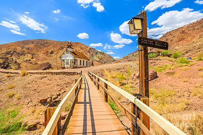 Photograph - School Bridge And Calico Chapel by Benny Marty