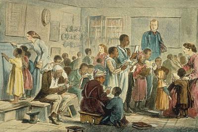 School For Slaves Art Print by Fotosearch