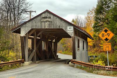 Photograph - School Street Covered Bridge by Adam Jewell