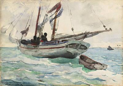 Drawing - Schooner - Nassau by Winslow Homer