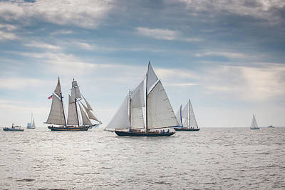 Photograph - Schooners At The Start by Mark Duehmig