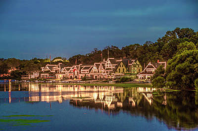 Photograph - Schuylkill At Night - Boathouse Row by Bill Cannon