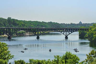 Photograph - Schuylkill River View - Strawberry Mansion Bridge by Bill Cannon