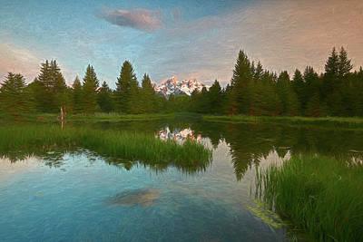 Digital Art - Schwabacher Morning III by Jon Glaser
