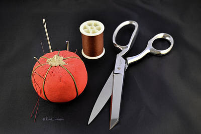 Photograph - Scissors Thread Pincushion by Kae Cheatham