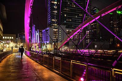Photograph - Scooting The Austin Pedestrian Bridge Austin Tx Texas by Toby McGuire