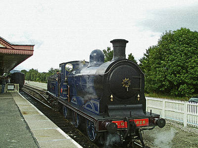Photograph - Scotland. Aviemore. Strathspey Railway. by Lachlan Main
