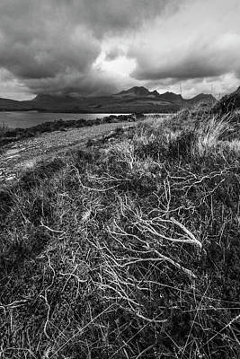 Photograph - Scotland Untamed Black And White by Debra and Dave Vanderlaan