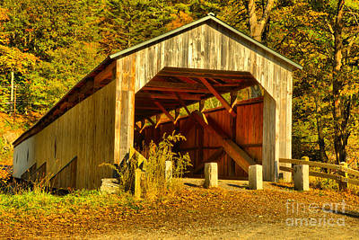 Photograph - Scott Covered Bridge by Adam Jewell