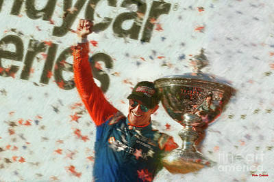 Photograph - Scott Dixon Celebrates Fifth Indycar Series Championship by Blake Richards