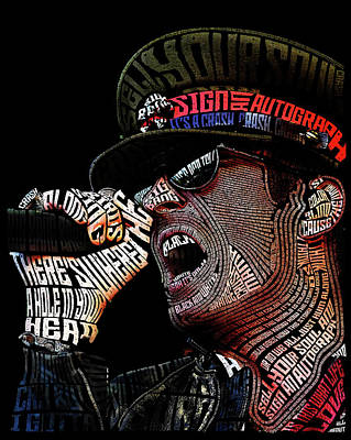 Stone Temple Pilots Wall Art - Digital Art - Scott Weiland Typography Portrait by Kristina Hamilton