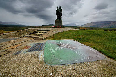 Scottish Highlands Wall Art - Mixed Media - Scottish Commando Memorial by Smart Aviation