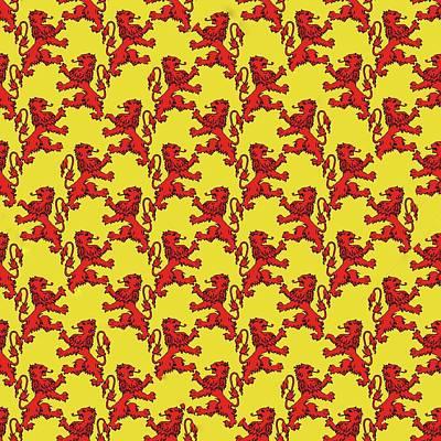 Digital Art - Scottish Lion Repeating Pattern by Cindy Boyd