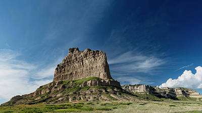 Photograph - Scottsbluff National Monument in Nebraska by Art Whitton