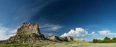 Photograph - Scottsbluff National Monument in Nebraska Panorama by Art Whitton