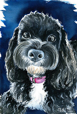 Painting - Scout - Cavoodle Dog Painting by Dora Hathazi Mendes