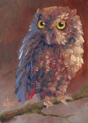 Painting - Screech by David Bader