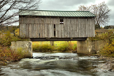 Photograph - Scribner Covered Bridge by Adam Jewell