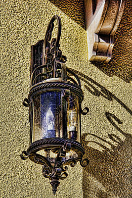 Photograph - Scrolled Ironwork Streetlamp by HH Photography of Florida