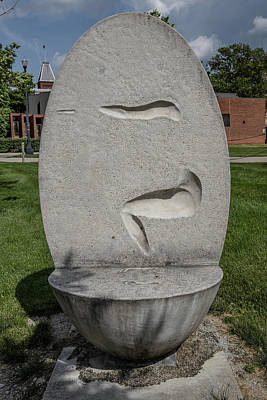 Photograph - Sculpture At The Ohio State University 2 by John McGraw