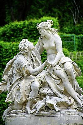 Photograph - Sculpture Of A Pair Of Lovers Linderhof Palace by Elzbieta Fazel