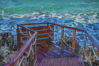 Painting - Sea A18-53 by Ray Shrewsberry