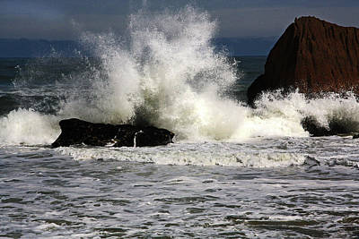 Photograph - Sea And Foaming Rocks by Nareeta Martin