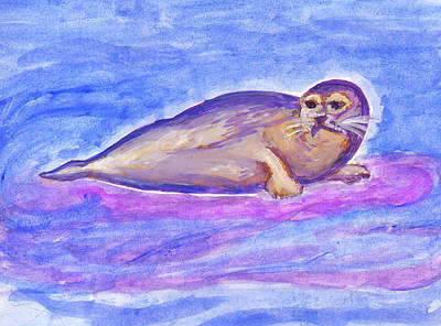 Painting - Sea Calf by Dobrotsvet Art