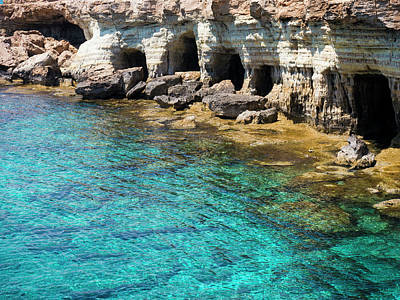 Photograph - Sea Caves In Cyprus by Rae Tucker