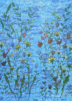 Mixed Media - Sea Daisies by Janyce Boynton