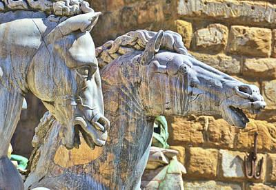Pop Art - Sea-gods Of Florence by JAMART Photography