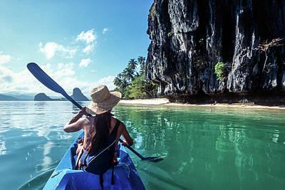 Photograph - Sea Kayaking by John Seaton Callahan