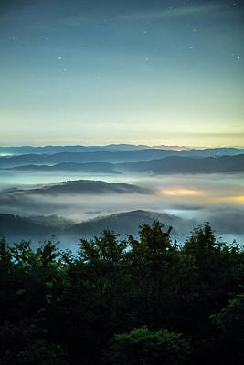 Okayama Prefecture Photograph - Sea Of Clouds Under Night Sky Filled by Trevor Williams