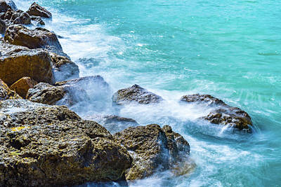 Photograph - Sea Rocks In Montego Bay by Debbie Ann Powell