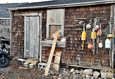 Photograph - Sea Shack In Rockport by Mary Capriole