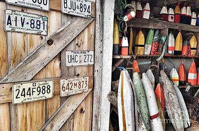 Photograph - Sea Shack Plates And Buoys by Mary Capriole