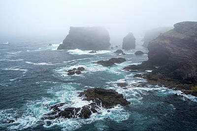 Photograph - Sea Stacks At Eshaness, Shetland by Arterra Picture Library