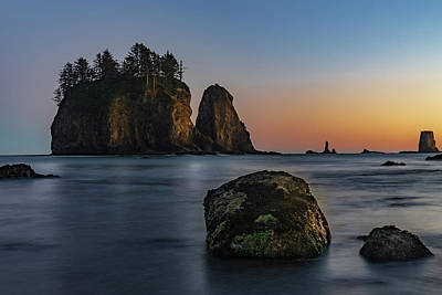 Art Print featuring the photograph Sea Stacks At La Push by Ed Clark