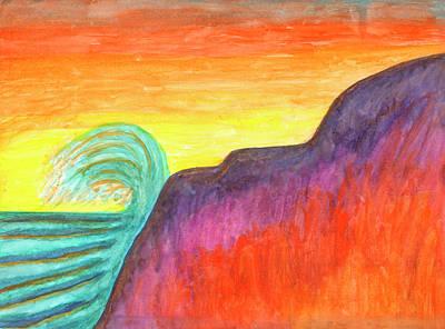 Painting - Sea Surf At Sunset by Irina Dobrotsvet